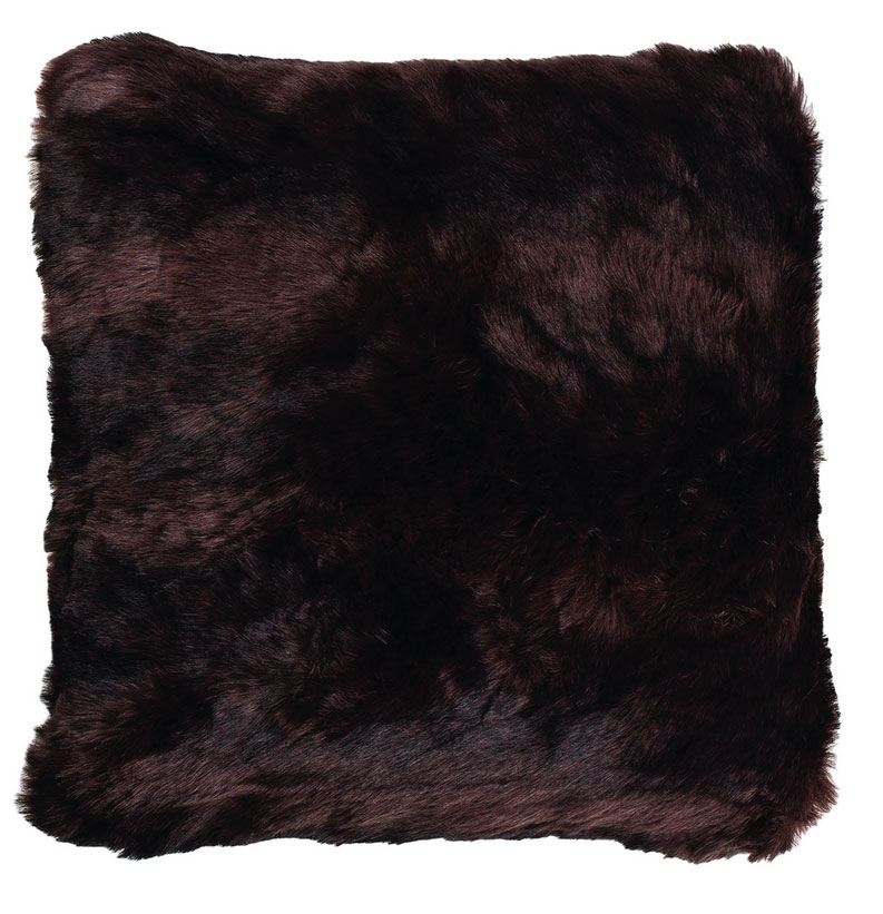 Faux Fur Cushion in Grizzly