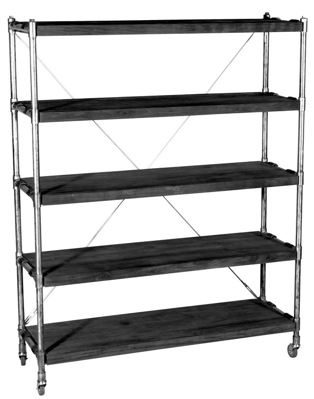 Kasting Book Rack in black