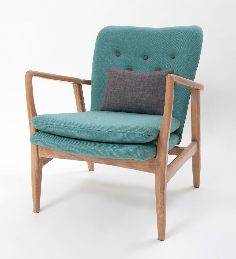 Max armchair in seagreen make your house a home bendigo for Modern armchair