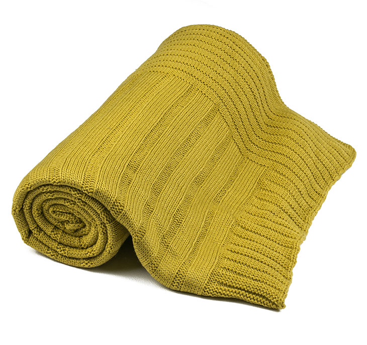 Preston Throw Rug - Chartreuse