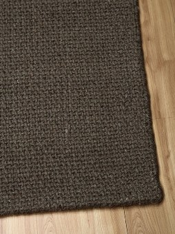 Dark Grey Cross Weave Rug