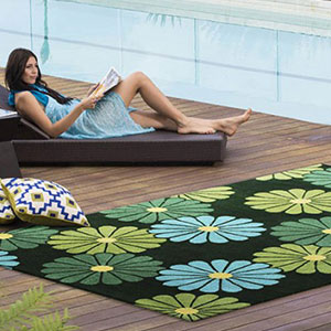 Geisha Green Rug by Jamie Durie