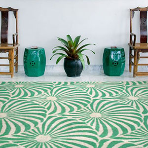 Plume Green Rug by Jamie Durie