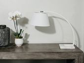 monarch table lamp white