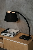 monarch table lamp black