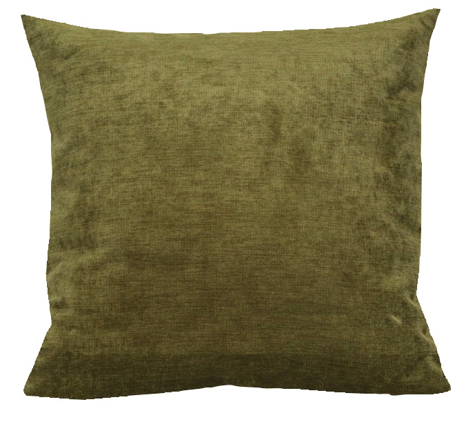 Valetta Velvet Cushion in Moss
