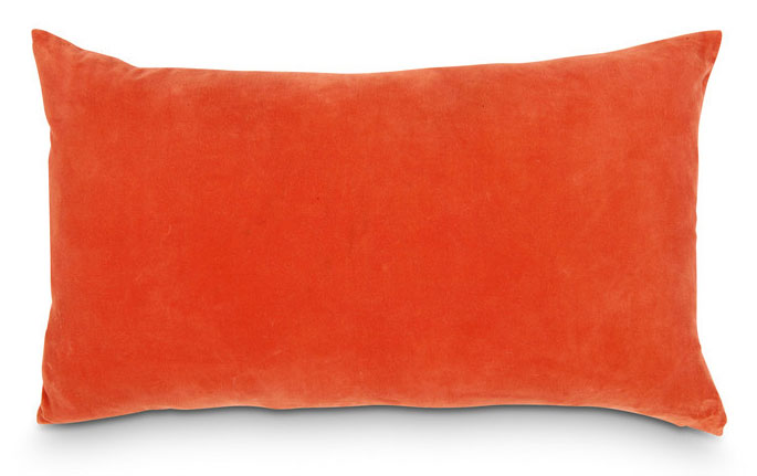 Velvet Lumbar Cushion Carp